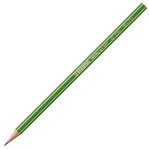 鉛筆 スタビロ グリーン鉛筆 HB 12本セット 6003-HB|nomado1230