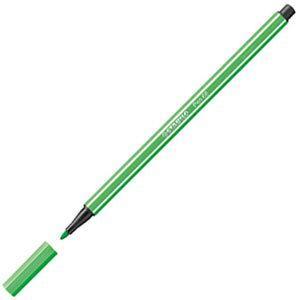 ファイバーチップペン スタビロ ペン68 ファイバーチップペン 10セット ライトエメラルド 68-16|nomado1230