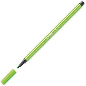 ファイバーチップペン スタビロ ペン68 ファイバーチップペン 10セット ライトグリーン 68-33|nomado1230