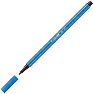 ファイバーチップペン スタビロ ペン68 ファイバーチップペン 10セット ダークブルー 68-41|nomado1230
