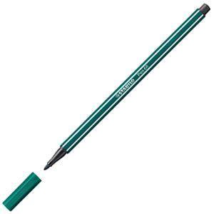 ファイバーチップペン スタビロ ペン68 ファイバーチップペン 10セット ターコイズグリーン 68-53|nomado1230
