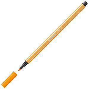 ファイバーチップペン スタビロ ペン68 ファイバーチップペン 10セット オレンジ 68-54|nomado1230