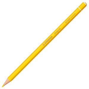 スタビロ オリジナル 硬質水彩色鉛筆 2.5ミリ 単色 12本セット ナチュラルイエロー 87-205|nomado1230