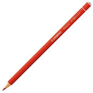 スタビロ オリジナル 硬質水彩色鉛筆 2.5ミリ 単色 12本セット パーマネントレッド 87-300|nomado1230