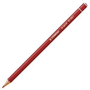 色鉛筆 水彩 スタビロ オリジナル 硬質水彩色鉛筆 2.5ミリ 単色 12本セット カーマインレッドディープ 87-325|nomado1230