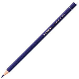 色鉛筆 水彩 スタビロ オリジナル 硬質水彩色鉛筆 2.5ミリ 単色 12本セット バイオレットディープ 87-385|nomado1230