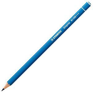 スタビロ オリジナル 硬質水彩色鉛筆 2.5ミリ 単色 12本セット スカイブルーディープ 87-410|nomado1230