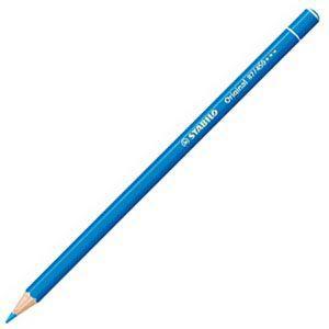 スタビロ オリジナル 硬質水彩色鉛筆 2.5ミリ 単色 12本セット シアンブルー 87-450|nomado1230