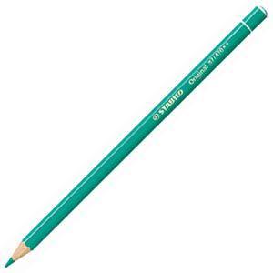 スタビロ オリジナル 硬質水彩色鉛筆 2.5ミリ 単色 12本セット ターコイズ 87-470|nomado1230