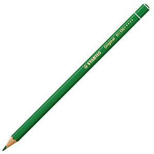 スタビロ オリジナル 硬質水彩色鉛筆 2.5ミリ 単色 12本セット グリーン 87-530|nomado1230