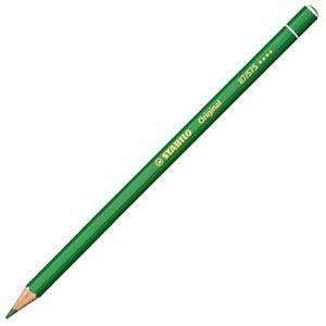 色鉛筆 水彩 スタビロ オリジナル 硬質水彩色鉛筆 2.5ミリ 単色 12本セット リーフグリーン 87-575|nomado1230