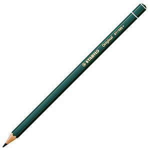 スタビロ オリジナル 硬質水彩色鉛筆 2.5ミリ 単色 12本セット リーフグリーンディープ 87-595|nomado1230