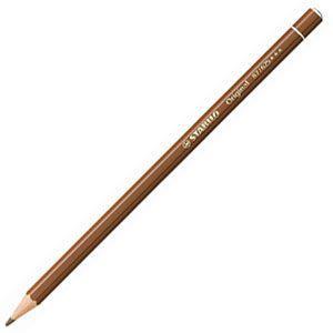 スタビロ オリジナル 硬質水彩色鉛筆 2.5ミリ 単色 12本セット バーントアンバー 87-625|nomado1230