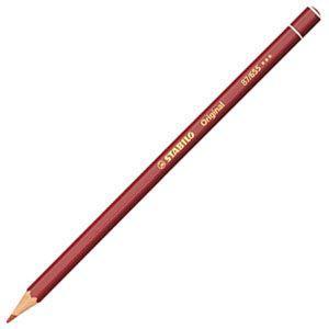 スタビロ オリジナル 硬質水彩色鉛筆 2.5ミリ 単色 12本セット イングリッシュレッドディープ 87-655|nomado1230