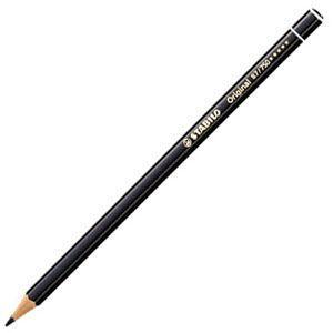スタビロ オリジナル 硬質水彩色鉛筆 2.5ミリ 単色 12本セット ナチュラルブラック 87-750|nomado1230