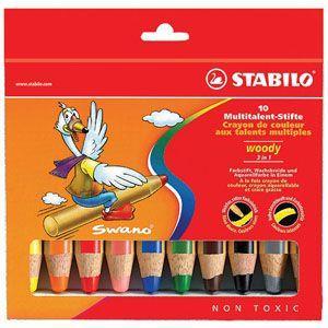 色鉛筆 水彩 セット スタビロ ウッディー 水溶性色鉛筆 10色セット 880-10 nomado1230