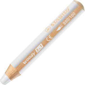 色鉛筆 水彩 スタビロ ウッディー 3in1 画材 10ミリ 5セット ホワイト 880-100|nomado1230