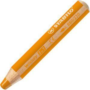 色鉛筆 水彩 スタビロ ウッディー 3in1 画材 10ミリ 5セット オレンジ 880-220|nomado1230