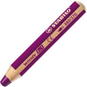 色鉛筆 水彩 スタビロ ウッディー 3in1 画材 10ミリ 5セット ライラック 880-370|nomado1230