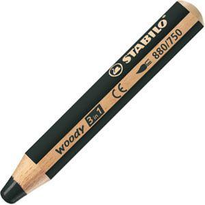 色鉛筆 水彩 スタビロ ウッディー 3in1 画材 10ミリ 5セット ブラック 880-750|nomado1230