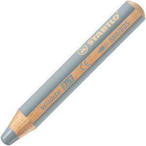色鉛筆 水彩 スタビロ ウッディー 3in1 画材 10ミリ 5セット シルバー 880-805|nomado1230
