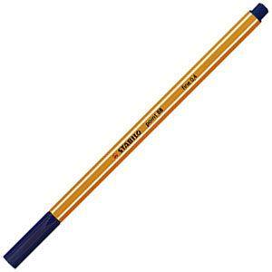 ファイバーチップペン スタビロ ポイント88 ファイバーチップペン 10セット ナイトブルー 88-22|nomado1230