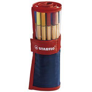 スタビロ ファイバーチップペン ペンケースローラー 25色入れ 10セット 8825-021|nomado1230