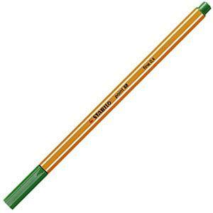 ファイバーチップペン スタビロ ポイント88 ファイバーチップペン 10セット グリーン 88-36|nomado1230
