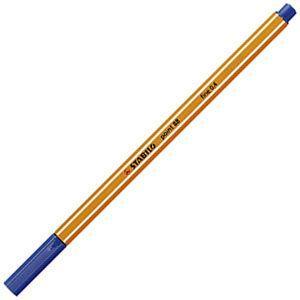 ファイバーチップペン スタビロ ポイント88 ファイバーチップペン 10セット ブルー 88-41|nomado1230