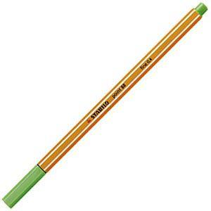 ファイバーチップペン スタビロ ポイント88 ファイバーチップペン 10セット ライトグリーン 88-43|nomado1230