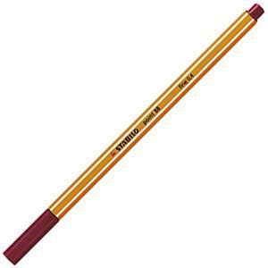 ファイバーチップペン スタビロ ポイント88 ファイバーチップペン 10セット ディープレッド 88-50|nomado1230