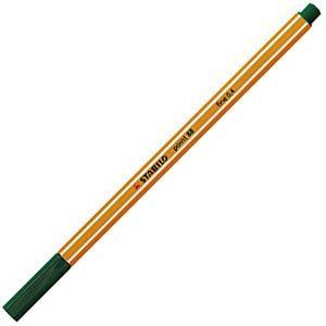 ファイバーチップペン スタビロ ポイント88 ファイバーチップペン 10セット パイングリーン 88-53|nomado1230