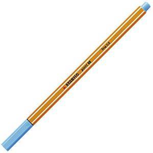 ファイバーチップペン スタビロ ポイント88 ファイバーチップペン 10セット ライトブルー 88-57|nomado1230