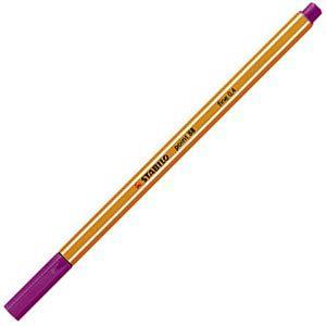 ファイバーチップペン スタビロ ポイント88 ファイバーチップペン 10セット ライラック 88-58|nomado1230