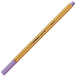 ファイバーチップペン スタビロ ポイント88 ファイバーチップペン 10セット ライトライラック 88-59|nomado1230