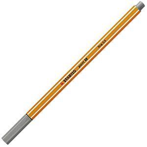 ファイバーチップペン スタビロ ポイント88 ファイバーチップペン 10セット ダークグレー 88-96|nomado1230