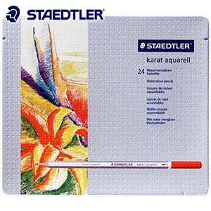 色鉛筆 水彩 セット ステッドラー カラト アクェレル125 水彩色鉛筆 24色セット 125M24|nomado1230