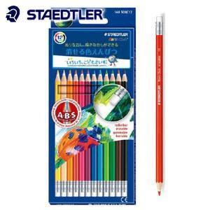 色鉛筆 セット ステッドラー ノリスクラブ 消せる色鉛筆 12色セット 144-50NC12|nomado1230