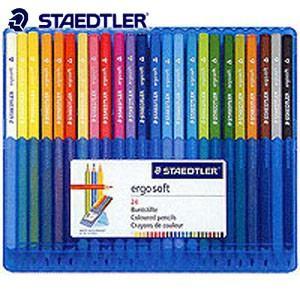 色鉛筆 セット ステッドラー エルゴソフト 色鉛筆 24色セット 157SB24|nomado1230