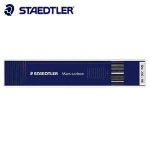 替芯 ステッドラー マルスカーボン ホルダー芯 2ミリ 12本入 200-P|nomado1230