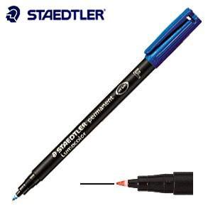 油性ペン ステッドラー ルモカラー 油性 カラーペン バイオレット 10本箱入り 318-6|nomado1230