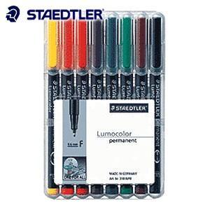 油性ペン ステッドラー ルモカラー 油性 8色セット 318-WP8|nomado1230
