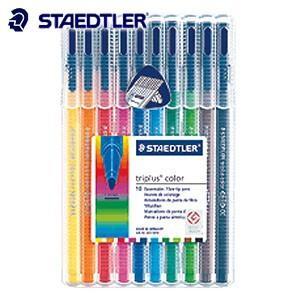 水性ペン ステッドラー トリプラス カラーペン 10色セット 323-SB10|nomado1230