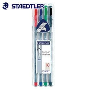 ファインライナー ステッドラー トリプラス ファインライナー 細書きペン 4色セット 334-SB4|nomado1230