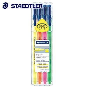 マーカー ステッドラー トリプラス テキストサーファー 蛍光ペン 4色セット 362-SB4|nomado1230