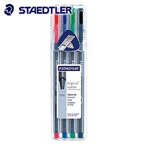 高級 ボールペン ステッドラー トリプラス ローラー 水性ボールペン 4色セット 403-SB4|nomado1230