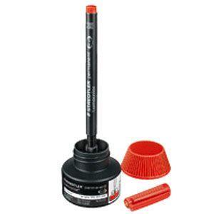 補充インク ステッドラー ルモカラー リフィルステーション 油性用補充インク 313・318・317・314用 4個包装 レッド 487-17-2|nomado1230|02