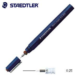 製図用品 ステッドラー マルス マチック 製図ペン ISO 線幅0.25ミリ 700-M025|nomado1230