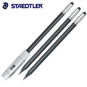 鉛筆 ステッドラー ザ・ペンシル セット タッチペン付きWOPEX鉛筆 Cap+3本入り 9PTP581SET|nomado1230