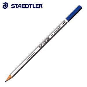 色鉛筆 水彩 ステッドラー カラト アクェレル 水彩色鉛筆 ブルー 12本箱入り 125-3|nomado1230